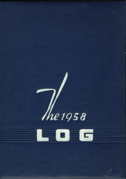 1958 Hudson High School Yearbook Cover