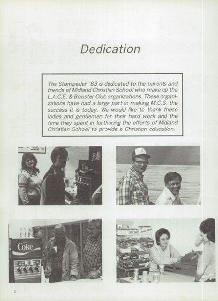 1983 Midland Christian School Yearbook Page 6