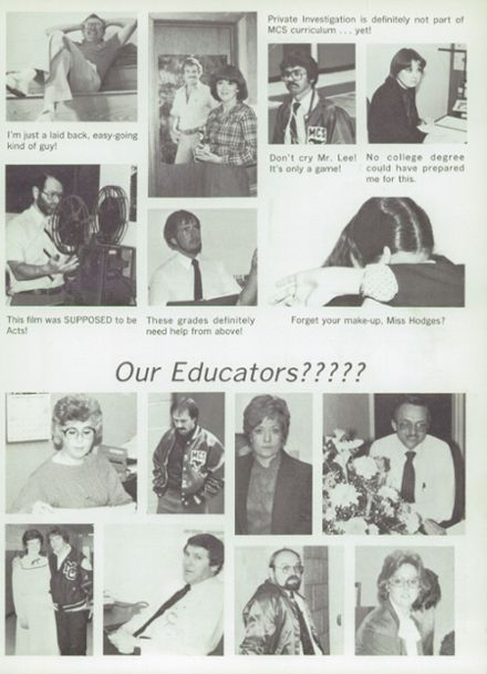 1983 Midland Christian School Yearbook Page 7