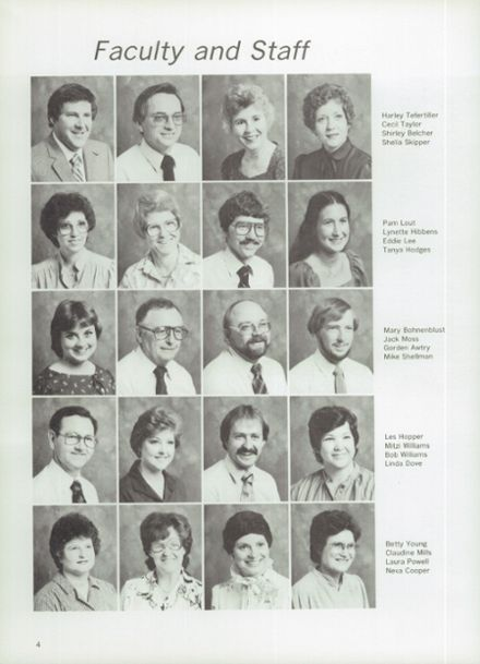 1983 Midland Christian School Yearbook Page 8