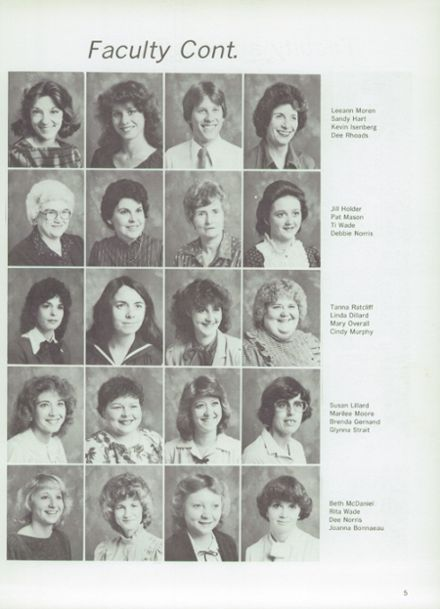 1983 Midland Christian School Yearbook Page 9