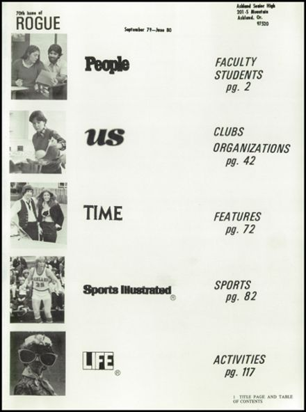 1980 Ashland High School Yearbook Page 5