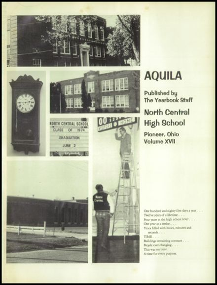 1974 North Central High School Yearbook Page 5