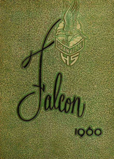 1960 Granville High School Yearbook Cover