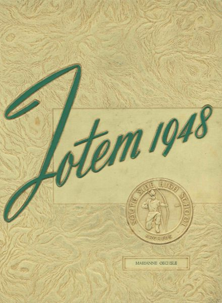 1948 South Side High School Yearbook Cover