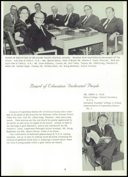 1964 Delaware Valley High School Yearbook Page 9