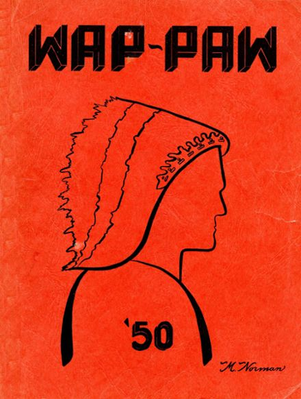 1950 Paw Paw High School Yearbook Cover