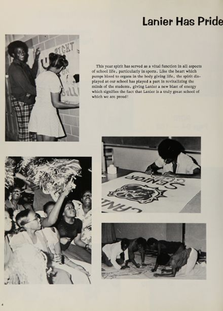 1974 Lanier High School Yearbook Page 8