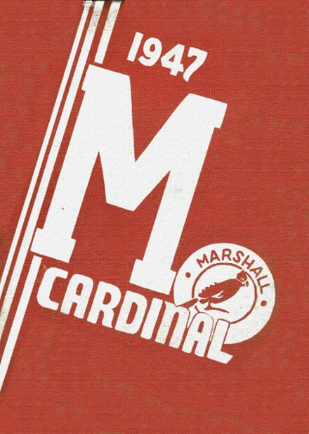 1947 Marshall High School Yearbook Cover