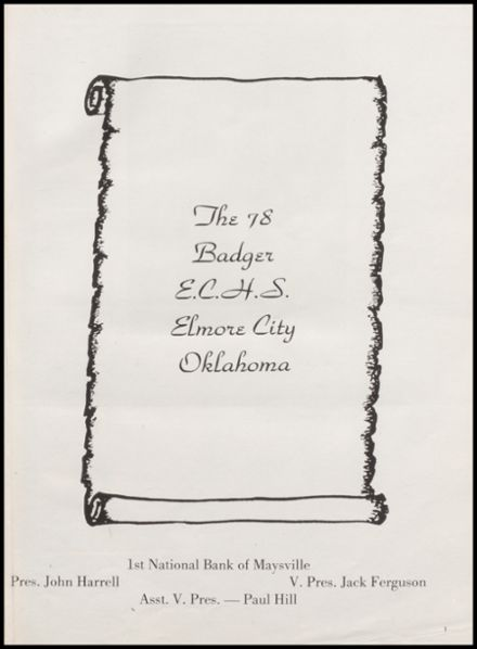 1978 Elmore City High School Yearbook Page 5
