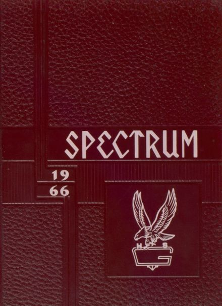1966 Greenfield High School Yearbook Cover