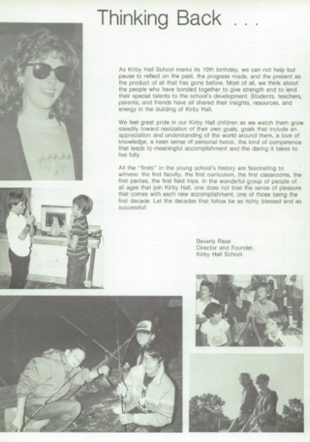 1987 Kirby Hall High School Yearbook Page 7