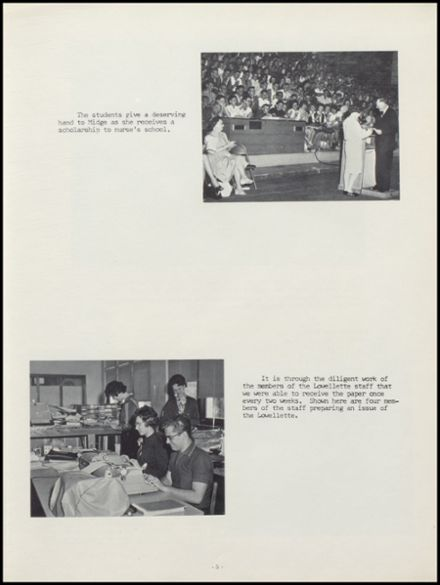 1963 Lowell High School Yearbook Page 9