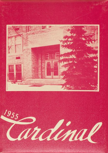 1955 Carrington High School Yearbook Cover