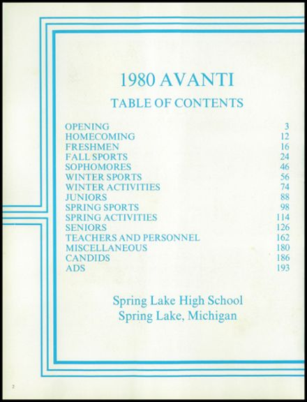 1980 Spring Lake High School Yearbook Page 6