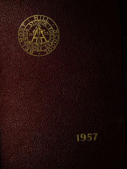 1957 Belmont Hill High School Yearbook Cover