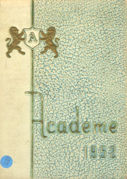 1952 Academy High School Yearbook Cover