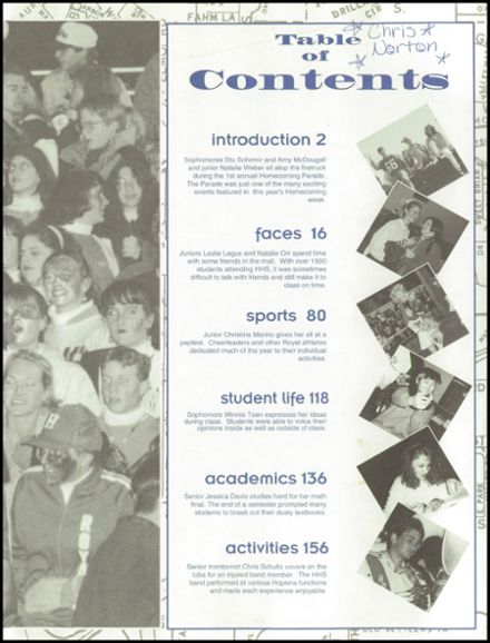 1994 Hopkins High School Yearbook Page 3