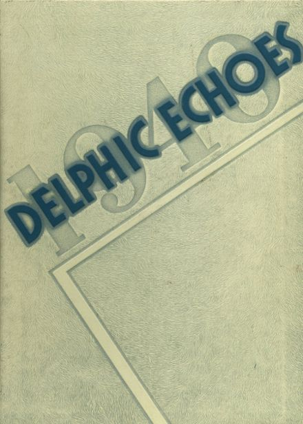 1940 Dinuba High School Yearbook Cover