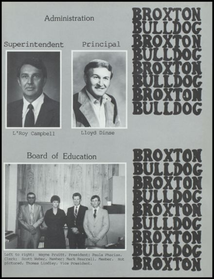 1987 Broxton High School Yearbook Page 5