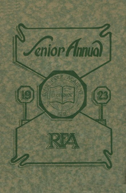 1923 Rome Free Academy Yearbook Page 1