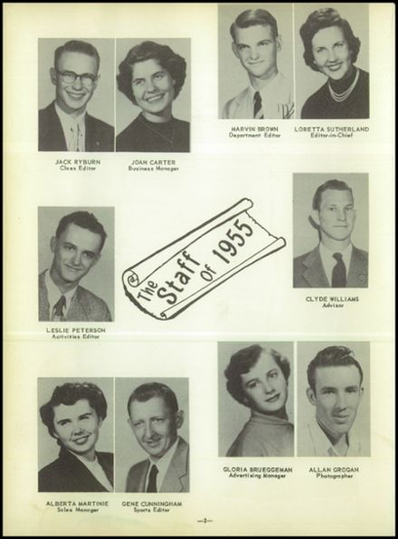 1955 Labette County High School Yearbook Page 6