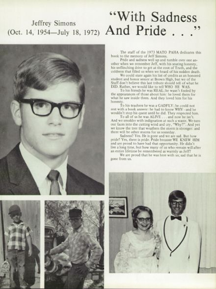 1973 Sturgis Brown High School Yearbook Page 7