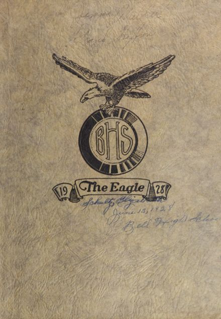 1928 Bell High School Yearbook Cover