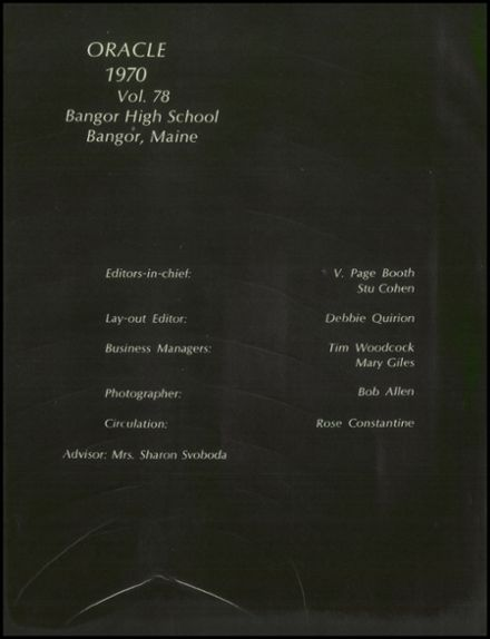 1970 Bangor High School Yearbook Page 6