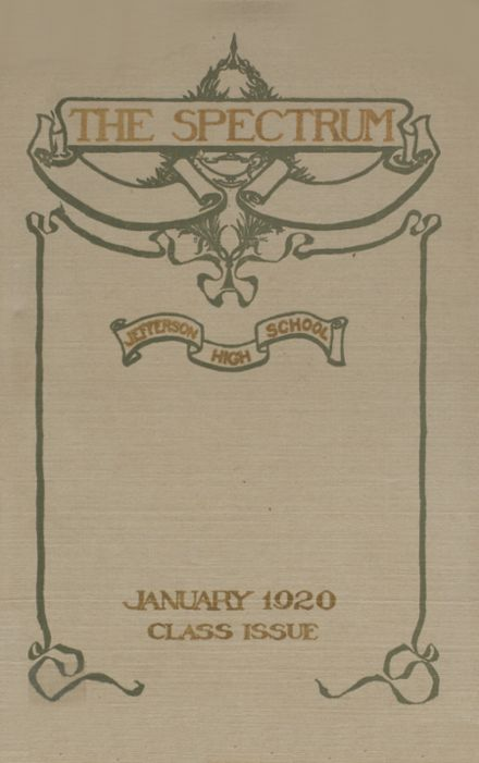 1920 Jefferson High School Yearbook Cover