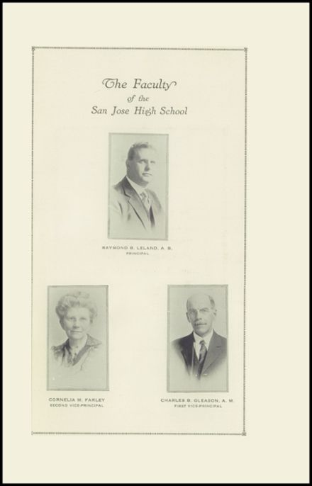1922 San Jose High School Yearbook Page 5