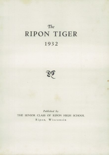 1932 Ripon High School Yearbook Page 7