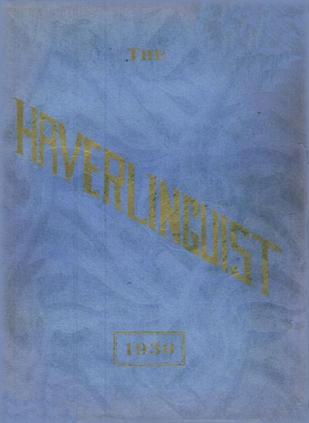 1930 Haverling High School Yearbook Cover