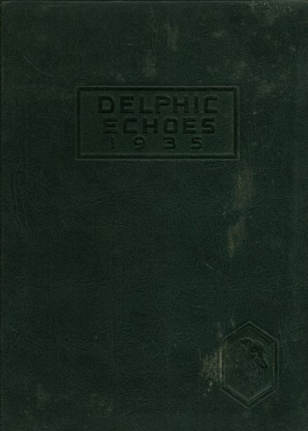 1935 Dinuba High School Yearbook Cover