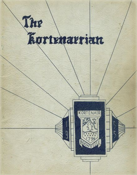 1955 Central High School Yearbook Cover