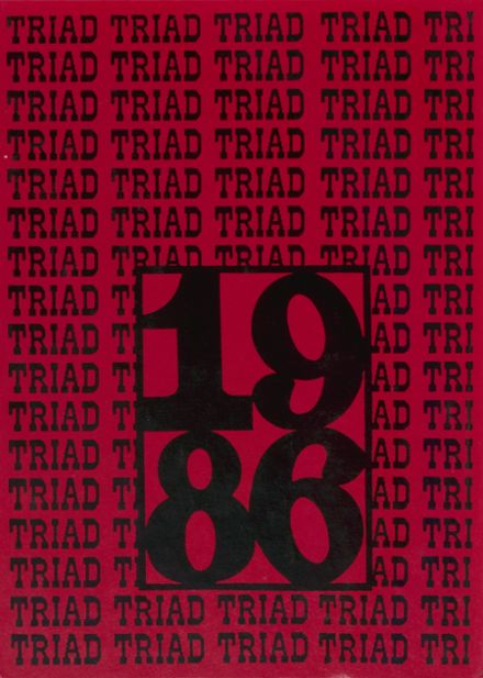 1986 Triad High School Yearbook Cover