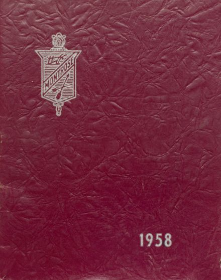 1958 Montrose High School Yearbook Cover
