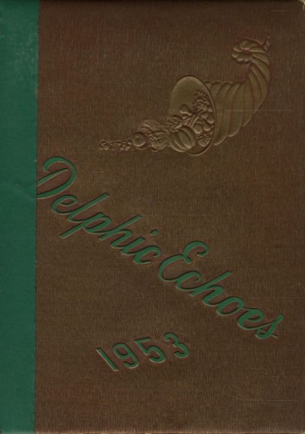 1953 Dinuba High School Yearbook Cover
