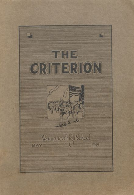 1918 Waupaca High School Yearbook Cover