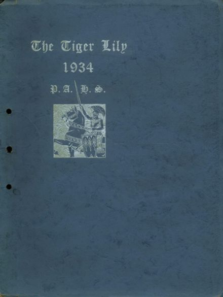 1934 Port Allegany High School Yearbook Cover