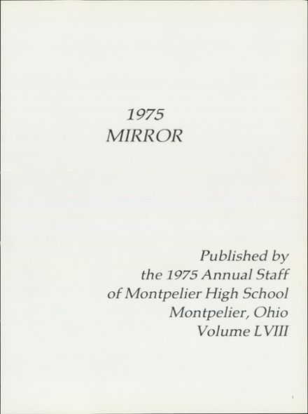 1975 Montpelier High School Yearbook Page 5