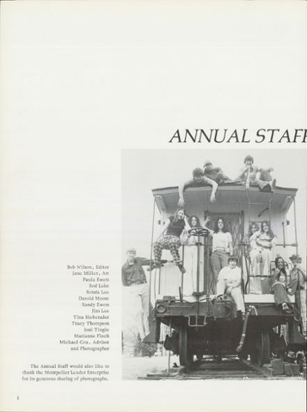 1975 Montpelier High School Yearbook Page 6