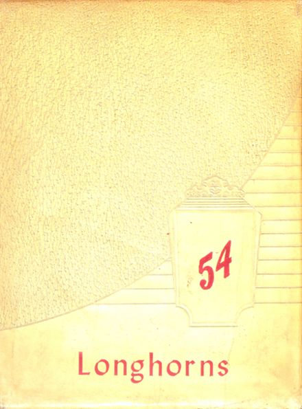 1954 Lawn High School Yearbook Cover
