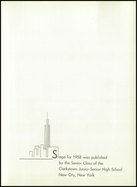 1958 Clarkstown High School Yearbook Page 5