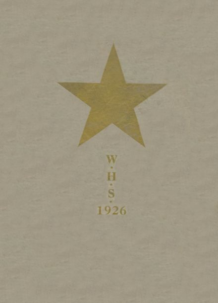 1926 Welch High School Yearbook Cover