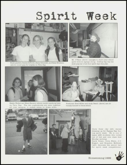 2000 Arlington High School Yearbook Page 9