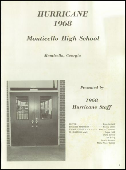 1968 Monticello High School Yearbook Page 5