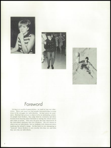 1968 John A. Rowland High School Yearbook Page 6