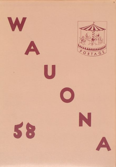 1958 Portage High School Yearbook Cover