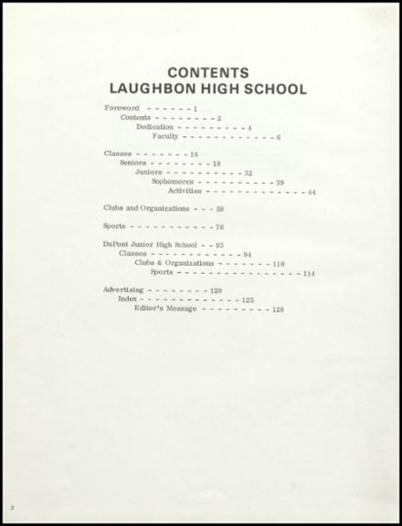 1971 Laughbon High School Yearbook Page 6